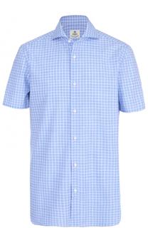 Хлопковая рубашка с короткими рукавами Luigi Borrelli