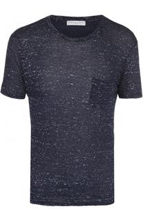 Льняная футболка с нагрудным карманом Daniele Fiesoli