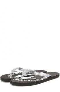 Резиновые шлепанцы с логотипом бренда Dirk Bikkembergs