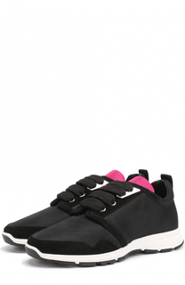 Комбинированные кроссовки на шнуровке Dsquared2