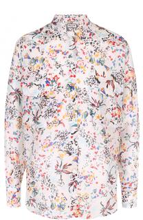Шелковая блуза свободного кроя с цветочным принтом Paul&Joe Paul&Joe
