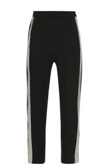Укороченные брюки с шелковыми контрастными лампасами Ilaria Nistri