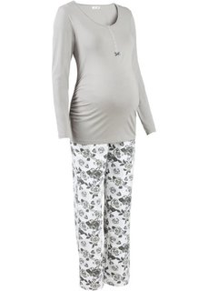 Для будущих мам: пижама для кормления (2 изд.) (серый/с рисунком) Bonprix