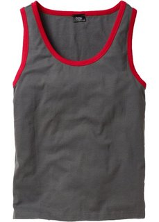 Майка (2 шт.) (красный + шиферно-серый) Bonprix