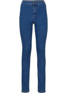 Абсолютный хит: джинсы Skinny с завышенной талией (голубой) Bonprix