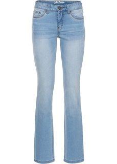 Утягивающие джинсы стреч STRAIGHT, высокий рост (L) (нежно-голубой) Bonprix