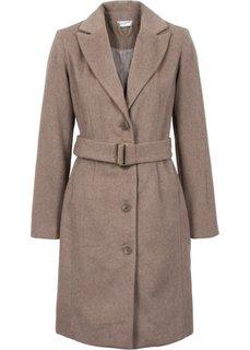 Пальто (серо-коричневый меланж) Bonprix