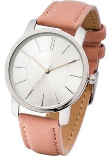 Часы на классическом браслете (дымчато-розовый) Bonprix