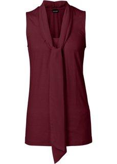 Трикотажная блузка (кленово-красный) Bonprix