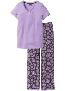 Пижама (сиреневый/шиферно-серый с принтом) Bonprix