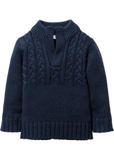 Пуловер грубой вязки, Размеры  80/86-128/134 (темно-синий) Bonprix