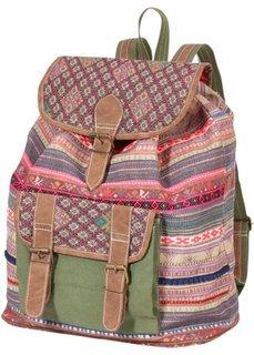 Узорчатый рюкзак (красный/зеленый/синий) Bonprix