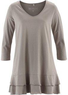 Удлиненная футболка (серо-коричневый) Bonprix