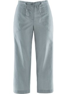 Льняные брюки 3/4 (серебристо-серый) Bonprix