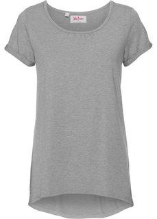 Легкая футболка с коротким рукавом (светло-серый меланж) Bonprix