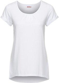 Легкая футболка с коротким рукавом (белый) Bonprix