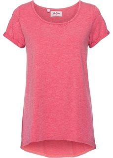 Легкая футболка с коротким рукавом (малиновый) Bonprix