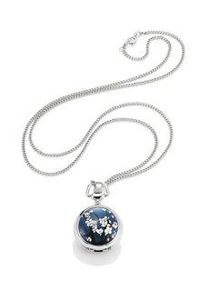 Часы на цепочке (серебристый/синий) Bonprix