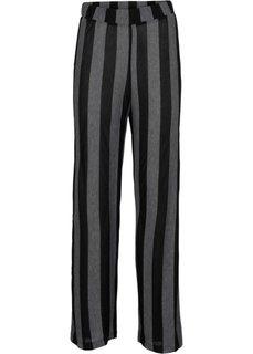 Трикотажные брюки (серый/черный в полоску) Bonprix