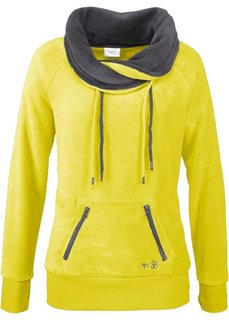Флисовая куртка (зеленый лайм/шиферно-серый) Bonprix
