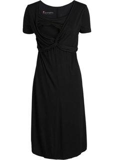 Для будущих мам: платье с функцией кормления (черный) Bonprix