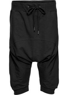 Спортивные капри в гаремном стиле (черный) Bonprix