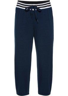 Трикотажные брюки 3/4 (темно-синий) Bonprix