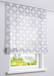 Римская штора Кай, Шина с лентой велкро (белый/серый) Bonprix