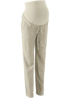 Для будущих мам: льняные брюки (песочный) Bonprix