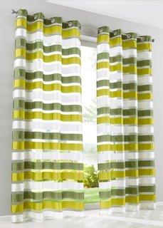 Гардина Баку (1 шт.), люверсы (зеленый) Bonprix