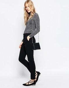 Черные брюки скинни Ganni - Черный