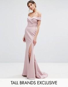 Платье макси с разрезом Jarlo Tall - Розовый