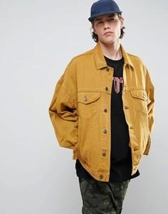 Желтая свободная джинсовая куртка в винтажном стиле ASOS - Желтый