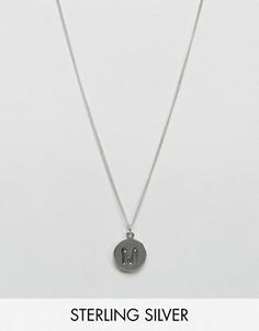 Серебряное ожерелье с инициалом М Fashionology - Серебряный