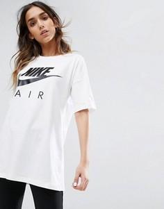 Белая длинная футболка Nike Air - Белый