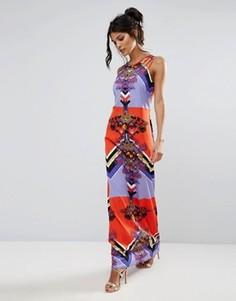 Платье макси с принтом City Goddess - Мульти