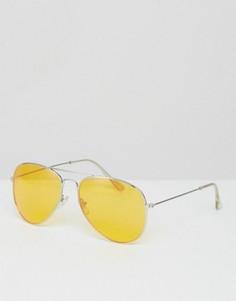 Солнцезащитные очки-авиаторы с желтыми стеклами Jeepers Peepers - Желтый