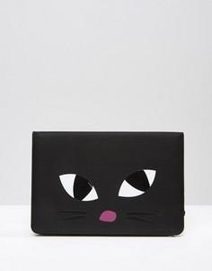 Чехол для iPad Mini с котом Lulu Guinness Kooky - Черный