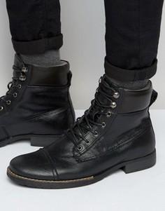 Кожаные ботинки на шнуровке Bellfield Hyder - Черный