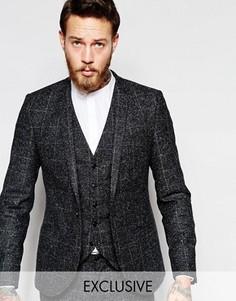 Зауженный пиджак в крапинку Noak - Серый