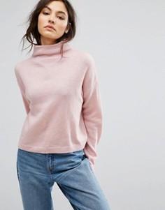 Укороченный джемпер с воротником-стойкой New Look - Розовый