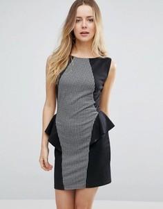 Платье-тюльпан колор блок Jasmine - Черный