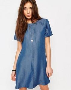 Джинсовое цельнокройное платье Abercrombie & Fitch - Синий