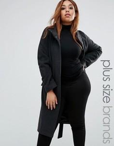 Куртка с воротником-труба Junarose Plus Olavia - Черный