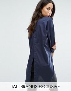 Oversize-рубашка на пуговицах сзади Noisy May Tall - Темно-синий