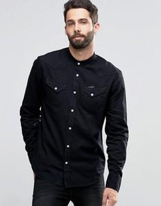 Джинсовая рубашка с воротником на пуговицах Religion - Черный
