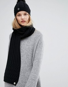 Черный вязаный шарф Calvin Klein - Черный