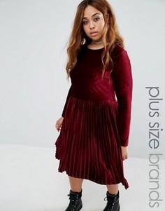 Бархатное приталенное платье Alice & You - Красный