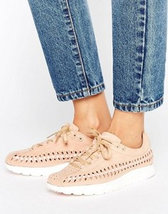 Желто-коричневые кроссовки с плетеной отделкой Nike Mayfly - Бежевый