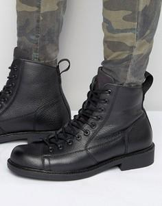 Кожаные ботинки на шнуровке G-Star Roofer - Черный